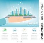 smart city on a digital touch... | Shutterstock .eps vector #1014713968