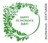 st patrick's day background.... | Shutterstock . vector #1014718606