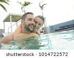 couple having fun at the... | Shutterstock . vector #1014722572