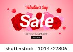 valentine's day sale background ... | Shutterstock .eps vector #1014722806