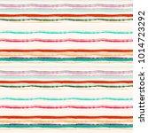 striped seamless pattern. brush ... | Shutterstock . vector #1014723292