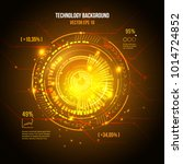 sci fi futuristic user... | Shutterstock .eps vector #1014724852