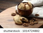 homemade cookies with chocolate ... | Shutterstock . vector #1014724882