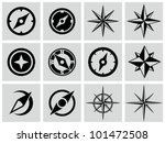 Compasses Icons Set.
