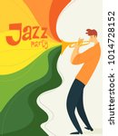 jazz festival poster with... | Shutterstock .eps vector #1014728152