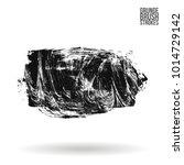 grey  brush stroke and texture. ... | Shutterstock .eps vector #1014729142