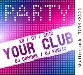 party flyer vector template   Shutterstock .eps vector #101473525