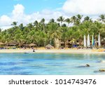 sunny panorama of dominicus...   Shutterstock . vector #1014743476