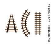 vector rails set | Shutterstock .eps vector #1014750652