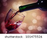 Red Wine Glass Bottle - Fine Art prints
