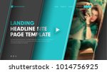 template header site with... | Shutterstock .eps vector #1014756925