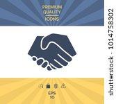 symbol of handshake in circle.... | Shutterstock .eps vector #1014758302