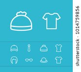 clothes icons set with t shirt  ...