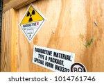 Radioactive material label...