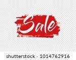 vector brush stroke sale banner ...   Shutterstock .eps vector #1014762916