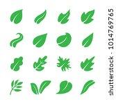 leaf icon set | Shutterstock .eps vector #1014769765