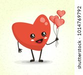 heart  vector cartoon character ... | Shutterstock .eps vector #1014769792