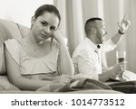 wife is upset because her... | Shutterstock . vector #1014773512