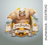 vector mexican wrestler banner 5   Shutterstock .eps vector #101478142