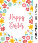 easter greeting card with... | Shutterstock .eps vector #1014782962