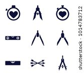 precision icons. set of 9... | Shutterstock .eps vector #1014783712