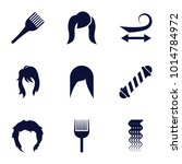 hairstyle icons. set of 9... | Shutterstock .eps vector #1014784972
