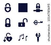 Key Icons. Set Of 9 Editable...