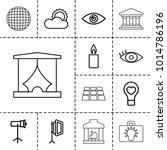 light icons. set of 13 editable ... | Shutterstock .eps vector #1014786196