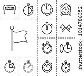finish icons. set of 13... | Shutterstock .eps vector #1014786352