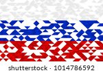flag of russia from triangles ... | Shutterstock .eps vector #1014786592