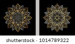 two rosettes inspired by a... | Shutterstock .eps vector #1014789322