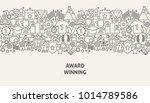 award banner concept. vector... | Shutterstock .eps vector #1014789586