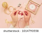 jewelry designer workplace.... | Shutterstock . vector #1014793558