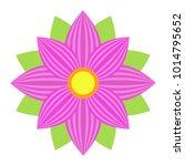 flower astra flat icon  easter... | Shutterstock .eps vector #1014795652