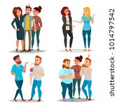 friends characters set vector.... | Shutterstock .eps vector #1014797542