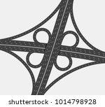 highway crossroad  two level...   Shutterstock .eps vector #1014798928