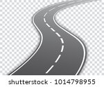 vector winding road isolated on ... | Shutterstock .eps vector #1014798955