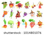 silly fantastic fruit and... | Shutterstock .eps vector #1014801076