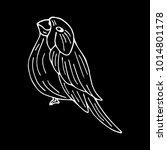 bird vector illustration.... | Shutterstock .eps vector #1014801178