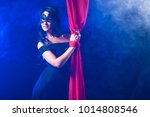 girl with tied hands. the girl... | Shutterstock . vector #1014808546