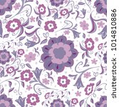 trendy hand drawn floral... | Shutterstock .eps vector #1014810886