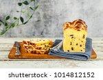 easter saffron hot cross bun... | Shutterstock . vector #1014812152