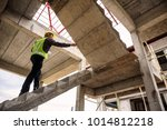 young professional engineer... | Shutterstock . vector #1014812218