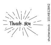 thank you vector template design | Shutterstock .eps vector #1014812842