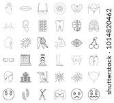 medico icons set. outline set...   Shutterstock .eps vector #1014820462
