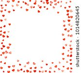 valentines day card with red... | Shutterstock .eps vector #1014820645