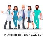 doctors set. team of medical... | Shutterstock . vector #1014822766
