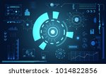 abstract technology ui... | Shutterstock .eps vector #1014822856