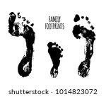 familyfootprints illustration.... | Shutterstock . vector #1014823072