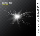 half transparent lightning bolt ... | Shutterstock .eps vector #1014825016